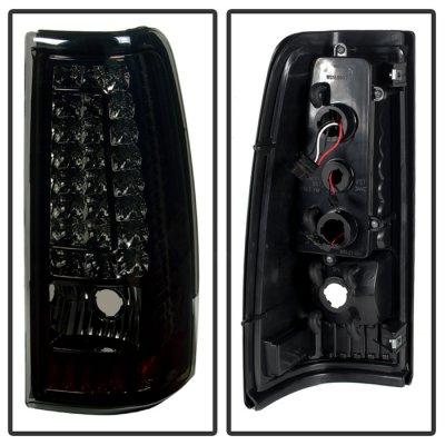 Chevy Silverado 2003-2006 Smoked Custom LED Tail Lights