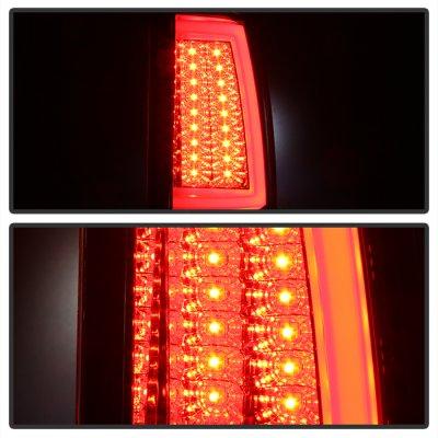 Chevy Silverado 2500 2003-2004 Black Chrome Tube LED Tail Lights