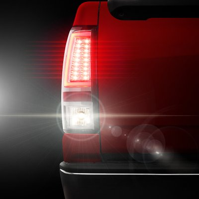 Chevy Silverado 2500 2003-2004 Clear Tube LED Tail Lights