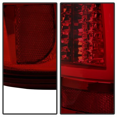 Chevy Silverado 2500 2003-2004 Tinted Tube LED Tail Lights