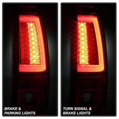 Chevy Silverado 2003-2006 Smoked Tube LED Tail Lights