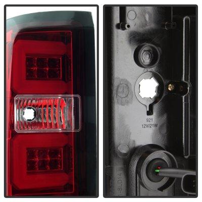 Chevy Silverado 2016-2017 Tube LED Tail Lights