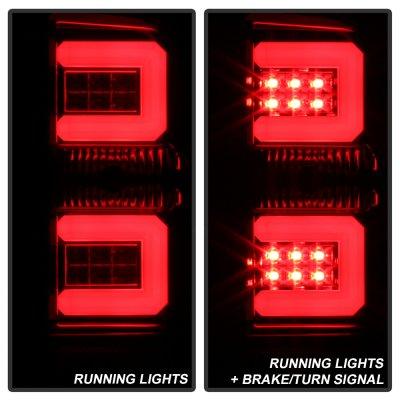 Chevy Silverado 2016-2017 Smoked Tube LED Tail Lights