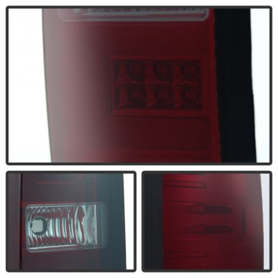 GMC Sierra 3500HD 2015-2016 Tinted LED Tail Lights Tube Bar