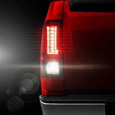 Chevy Silverado 2500HD 2007-2014 Black L-Custom LED Tail Lights