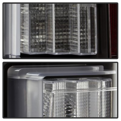 Ford F150 2015-2017 Black Clear LED Tail Lights