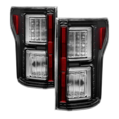 Ford F150 2015 2017 Black Clear Led Tail Lights A135amkp109 Topgearautosport