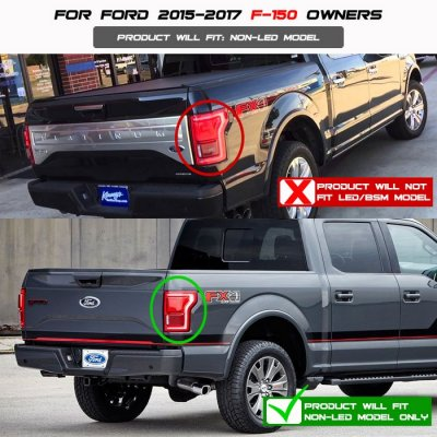 Ford F150 2015 2017 Black Clear Led Tail Lights