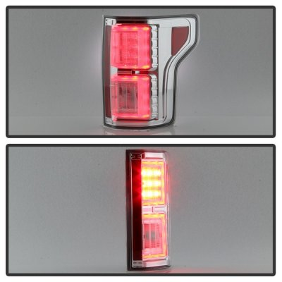 Ford F150 2015-2017 Chrome LED Tail Lights