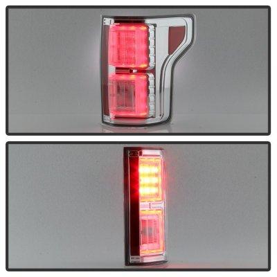 Ford F150 2015-2017 Chrome LED Tail Lights