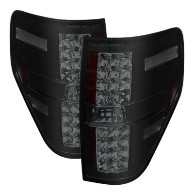 Ford F150 2009-2014 Black Smoked LED Tail Lights
