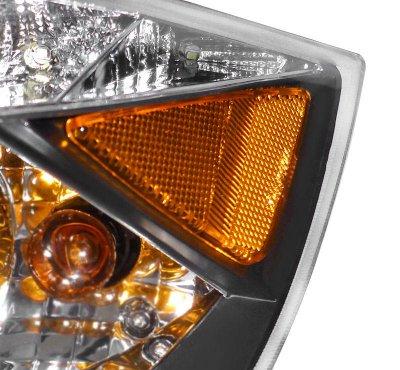 BMW 3 Series Sedan 2006-2008 Halo Black Halogen Projector Headlights LED
