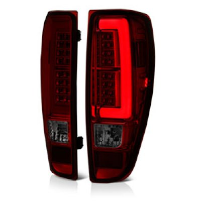 Chevy Colorado 2004 2012 Red And Smoked Led Tail Lights