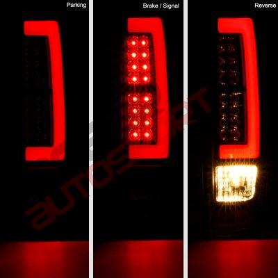Chevy Colorado 2004 2012 Black Headlights Set And Led Tube