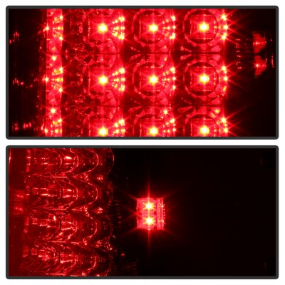 Ford F150 2004-2008 Red Clear LED Tail Lights