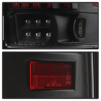 Ford F150 2004-2008 Black Tube LED Tail Lights