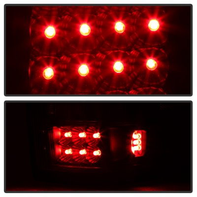 Ford F150 2004-2008 Black Smoked LED Tail Lights
