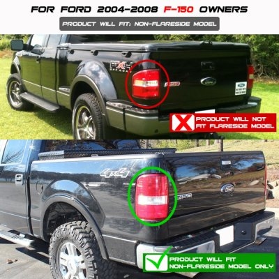 Ford F150 2004-2008 Black Smoked Custom LED Tail Lights
