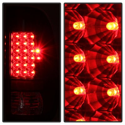 Ford F450 Super Duty 2008-2016 Black Smoked LED Tail Lights