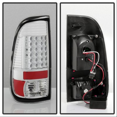 2008 Ford F250 Super Duty Chrome LED Tail Lights