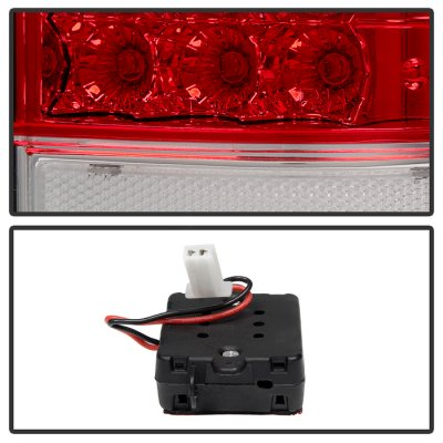 Ford F450 Super Duty 2008-2016 LED Tail Lights Red Clear