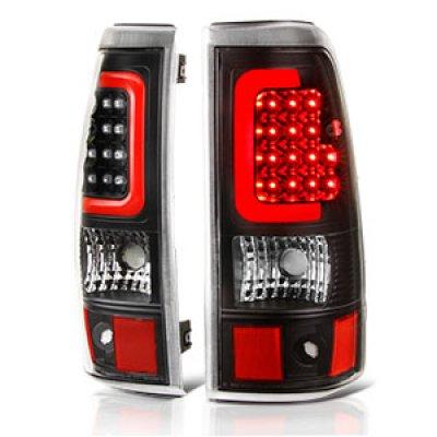 2003 Chevy Silverado 2500 Black LED Tail Lights Red Tube