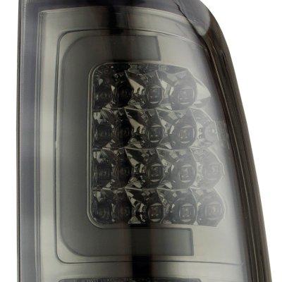 Chevy Silverado 2500HD 2003-2006 Smoked LED Tail Lights Tube