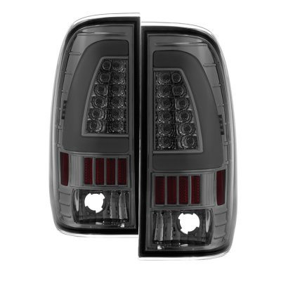 Ford F450 Super Duty 1999-2007 Smoked Tube LED Tail Lights