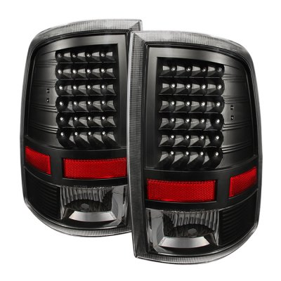 Dodge Ram 2009-2016 Black LED Tail Lights