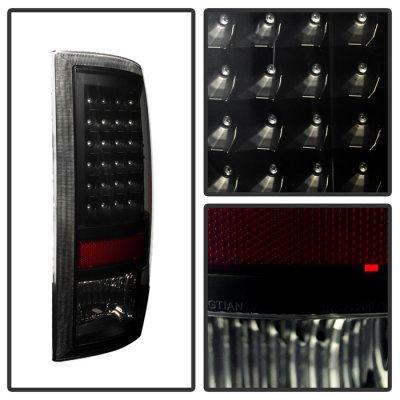 Dodge Ram 2009-2016 Black Smoked LED Tail Lights