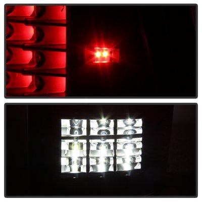 Dodge Ram 2009-2018 Black C-Custom Full LED Tail Lights