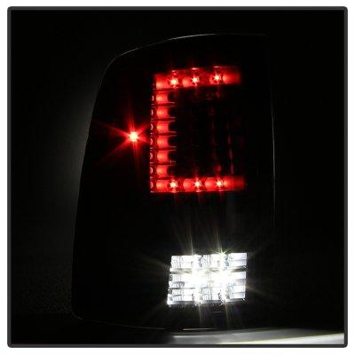 Dodge Ram 2500 2010-2014 Black C-Custom Full LED Tail Lights