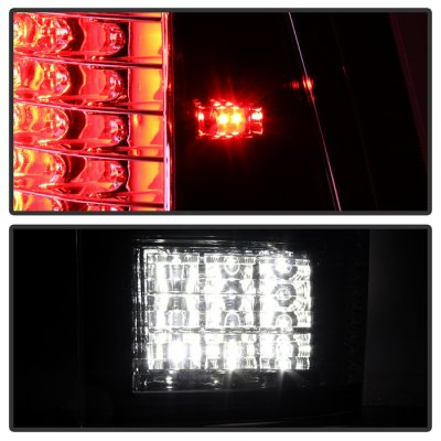Dodge Ram 2009-2014 Black Smoked C-Custom Full LED Tail Lights