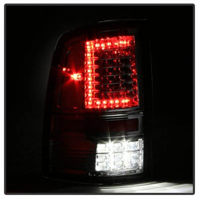 Dodge Ram 2009-2014 Smoked C-Custom Full LED Tail Lights