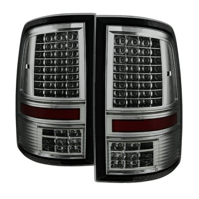 Dodge Ram 3500 2010-2014 Smoked C-Custom Full LED Tail Lights