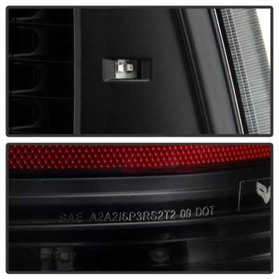 Dodge Ram 3500 2010-2016 Black Full LED Tail Lights