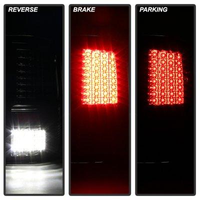 Dodge Ram 2009-2016 Black Smoked Full LED Tail Lights