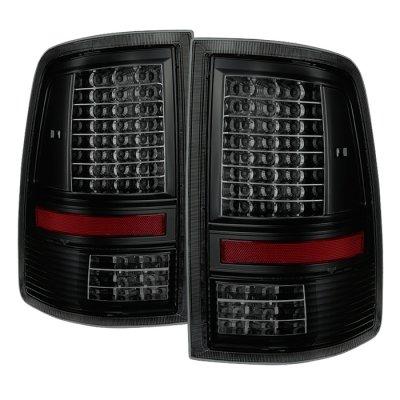 Dodge Ram 2500 2010-2016 Black Smoked Full LED Tail Lights