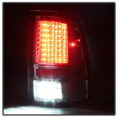 Dodge Ram 2500 2010-2016 Smoked Full LED Tail Lights