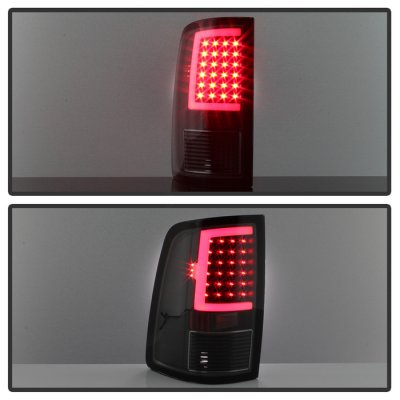 Dodge Ram 2500 2010-2018 Black Smoked LED Tail Lights