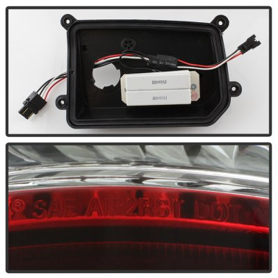 Dodge Ram 2009-2018 Red Clear LED Tail Lights