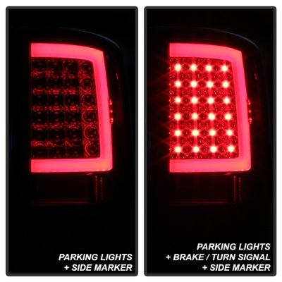 Dodge Ram 2500 2010-2018 Smoked LED Tail Lights