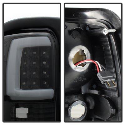 Dodge Ram 1994-2001 Black Tube LED Tail Lights