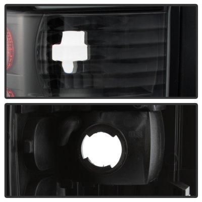 Dodge Ram 2500 1994-2002 Black Tube LED Tail Lights