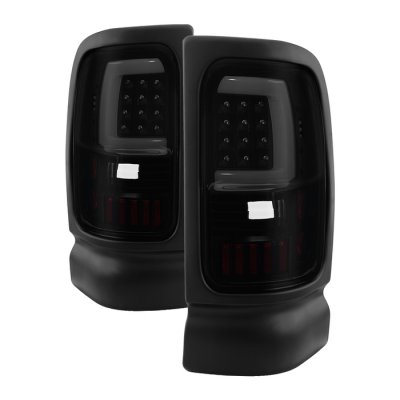 Dodge Ram 1994-2001 Black Smoked Tube LED Tail Lights
