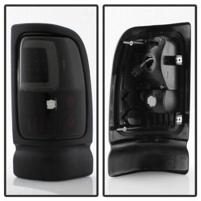 Dodge Ram 2500 1994-2002 Black Smoked Tube LED Tail Lights