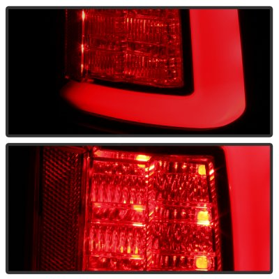 Dodge Ram 2009-2018 Black Smoked Tube LED Tail Lights
