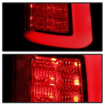 Dodge Ram 2500 2010-2018 Black Smoked Tube LED Tail Lights