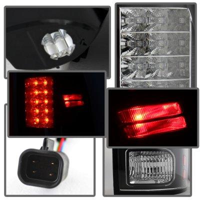 Dodge Ram 2013-2018 Black LED Tail Lights P-Series