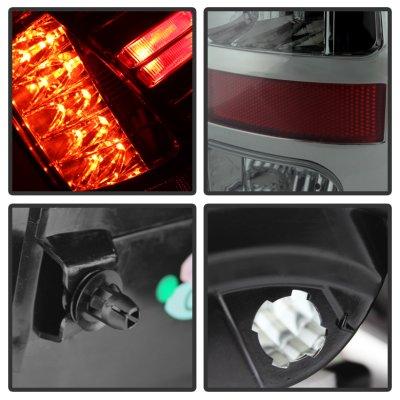 Dodge Ram 2500 2013-2018 Smoked LED Tail Lights